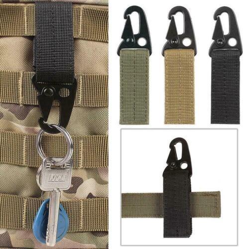 Nylon Tactical Molle Gürtel Karabiner Schlüsselanhänger Beutel Camp Wölbun B2O8