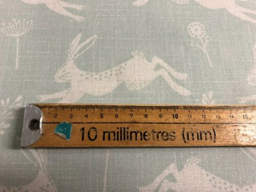 Sloane lièvres emprunté bleu clair en coton Vert Rideau//Craft Tissu