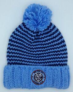 25e709f7eacca MLS New York City FC Adidas Cuffed Pom Winter Knit Hat Cap Beanie ...