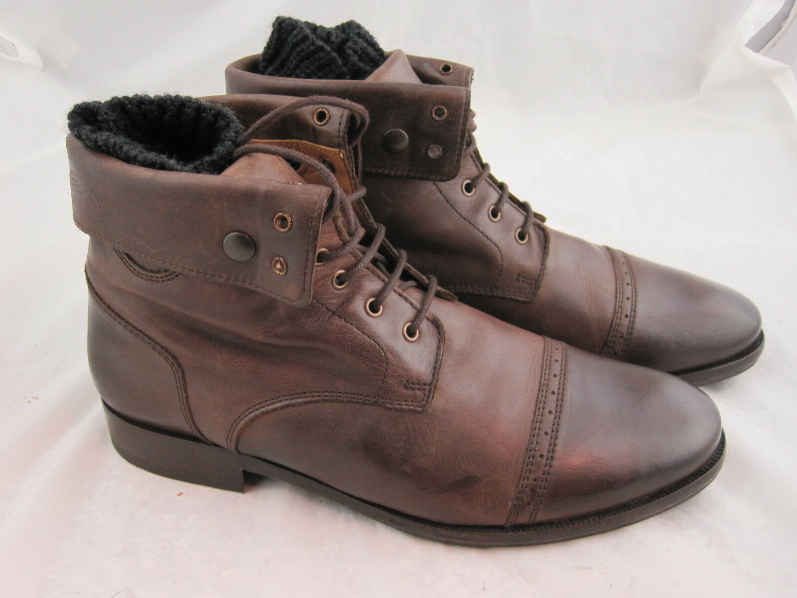 Baldessarini Mens botas in 44 UK 9,5 Top Condition High Original Price marrón