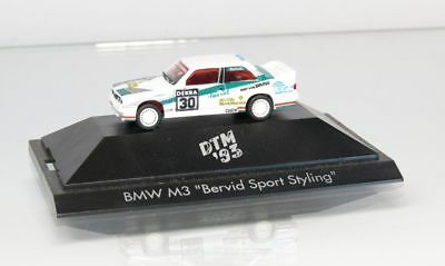 """Toys, Hobbies Generous Herpa H0 1:87 Bmw M3 """" Bervid Sport Styling """" Dtm 1993 With Display Cabinet"""