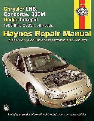 1 of 1 - Haynes Chrysler LHS, Concorde, 300M, Dodge Intrepid 1998 thru 2003