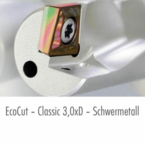 NEU CERATIZIT VHM ECOCUT R//L 08//10//12//16//18//20//25-3D H für Wendeplatten XC.T.