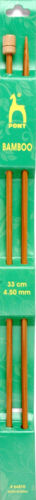 Pony Bamboo Knitting Needles length 33cm  size 2.75mm to 10mm