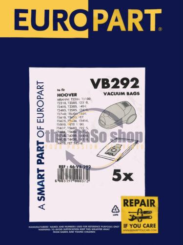 T5655 Hoover Telios Poussière Sacs T5715 T5703 T5702 5 Pack H30//H30+ T5639