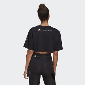 Black adidas AU by Stella McCartney Future Playground Cropped Tee