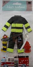 NEW  6 PC FIREFIGHTER Uniform Helmet FireTruck Boots Hose JOLEE'S 3D Stickers