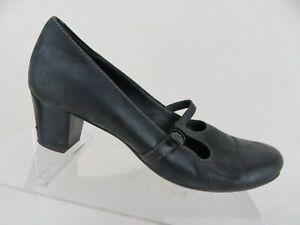 ECCO-T-Strap-Black-Sz-6-5-37-EU-Women-Kitten-Heels