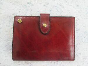 ETIENNE-AIGNER-BI-FOLD-WALLET-Vintage-Oxblood-Leather-Card-Case-Excellent