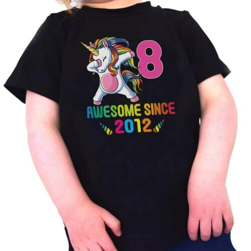 Kids Unicorn T-Shirt 8 Year Old T Shirt 8th Birthday Party Present