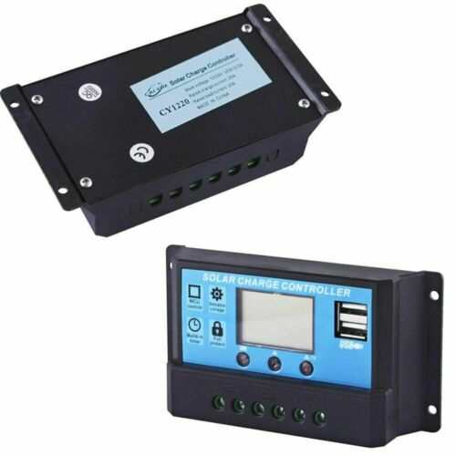 Solar Panel Battery Charge Controller 12V//24V LCD Regulator Auto Dual USB 10-30A