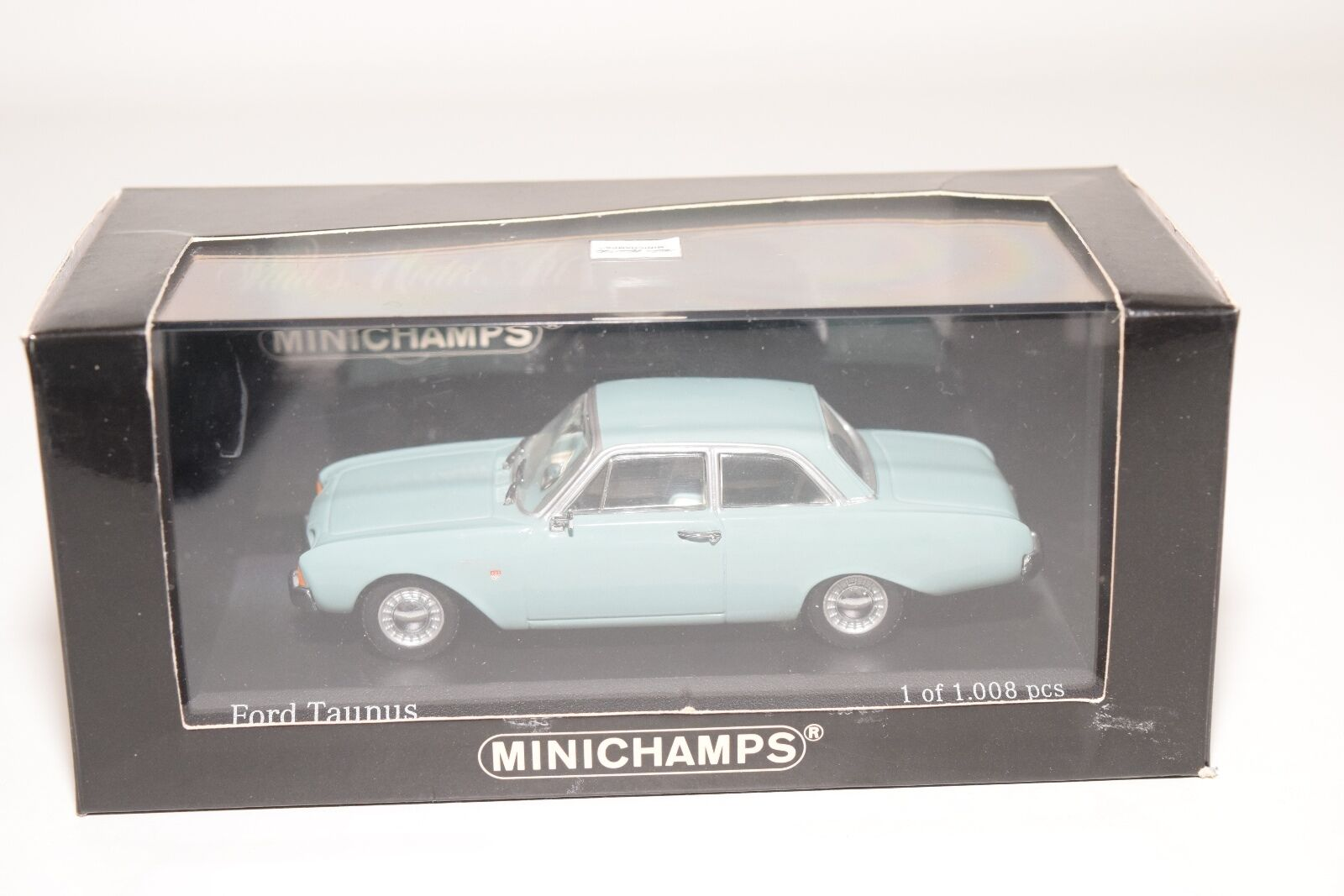 . MINICHAMPS FORD TAUNUS 1960 TURQUOISE MINT BOXED