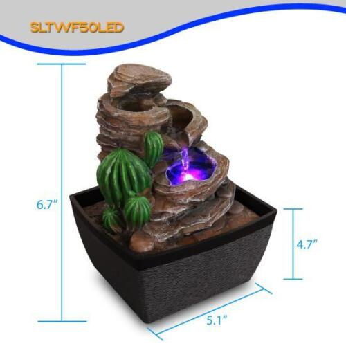 Tabletop Serene-Life Waterfall Electric Water Fountain Decor Indoor Outdoor