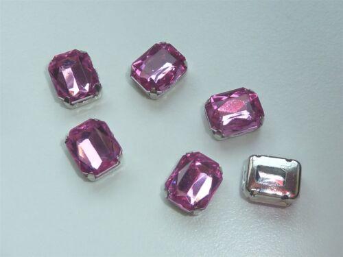 6-9x7mm Montaje de Metal Perlas de Imitación Joya Pulida-Rosa