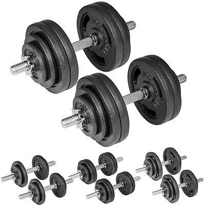 Gusseisen Kurzhanteln Hantel Set Hanteln Gewichte Hantelscheiben 40kg 2x20