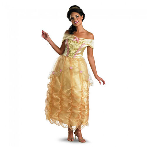 Belle Costume Beauty And The Beast Princess Womens Deluxe Long Dress