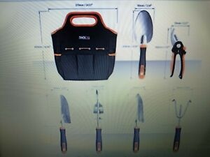 """TACKLIFE 6 Piece Stainless Steel Heavy Duty Garden Tools Set. Condition """"NEW""""."""