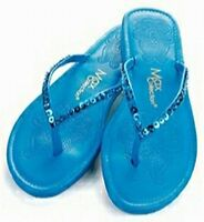 Max Collections Flip Flops Turquoise Blue Sequin Sandals Available In 6 Sizes