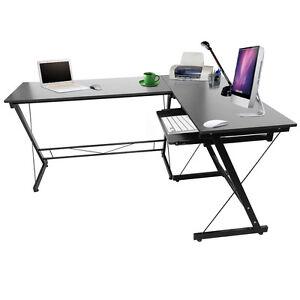 L form schwarz winkel schreibtisch eckschreibtisch for Schreibtisch in l form