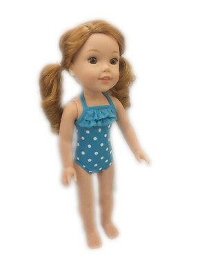 "Blue Swimsuit fits 14 /"" Fits AG Wellie Wisher /& Glitter Girl Dolls 14.5/"" Dolls"