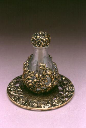 Brass Wrap Tear Bottle With Brass Tray #2005-6003