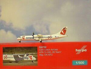 Herpa Wings 1:500  ATR-72-500  CSA Czech Airlines OK-NFU 532792 Modellairport500