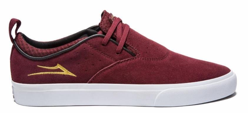 Lakai shoes Riley 2 - Burgundy Suede   global distribution