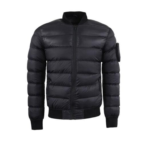 Mens Brave Soul Padded Puffer Style Winter BomberJacket In Black AW18