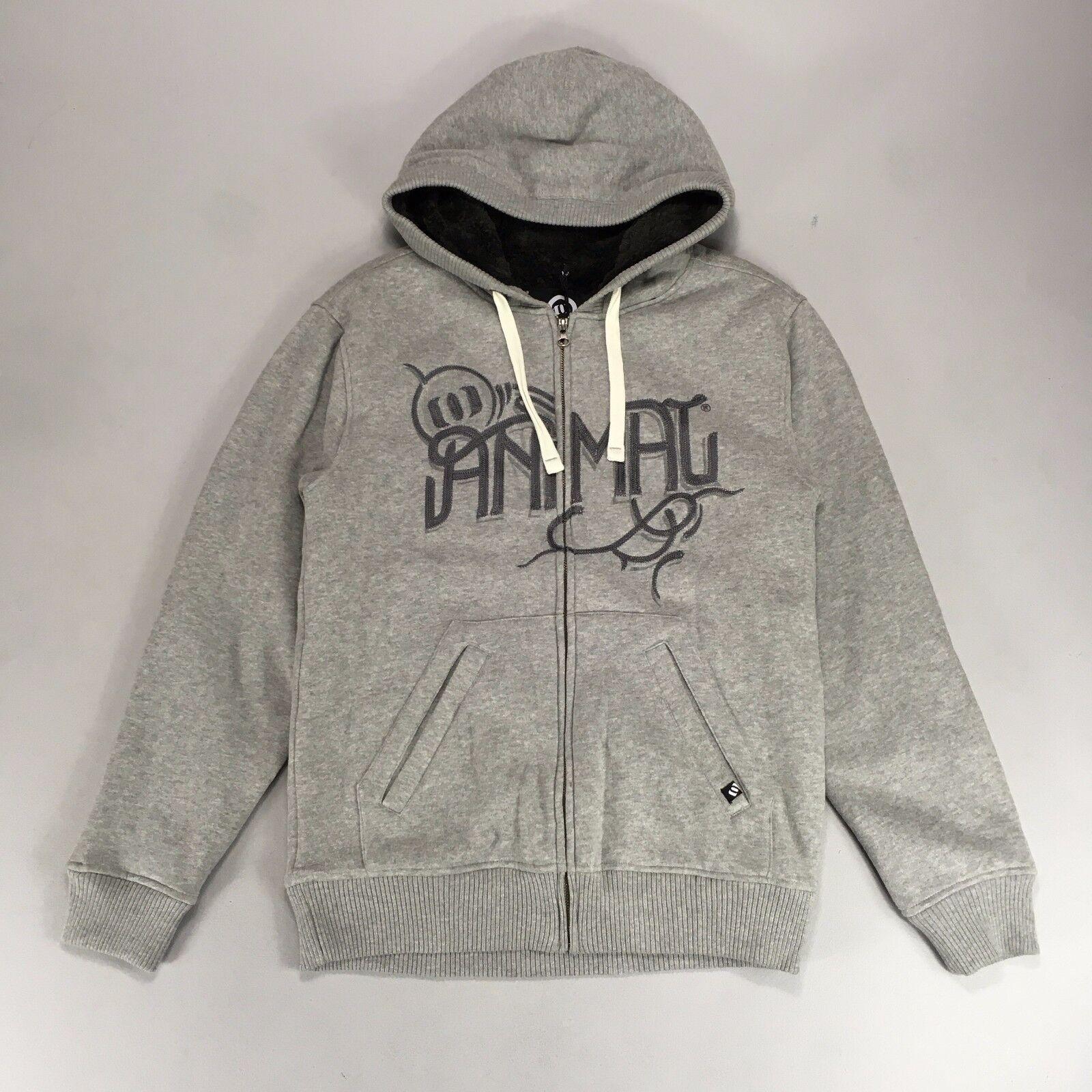 Animal Deluxe Zip Sherpa hoody - Grau - S