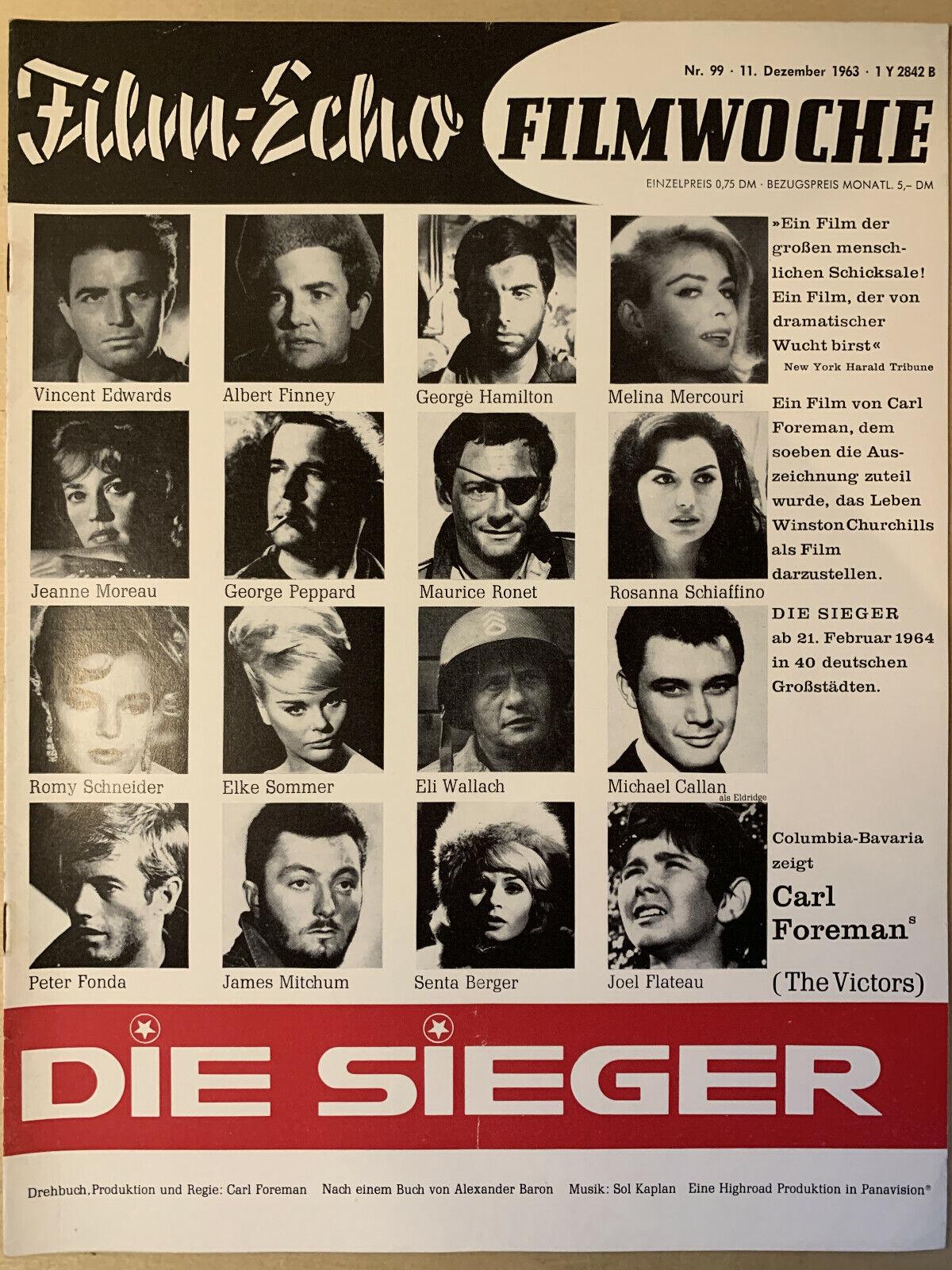 Cover der Ausgabe Nr. 99 am 11. Dezember 1963 (Filmecho/Filmwoche)