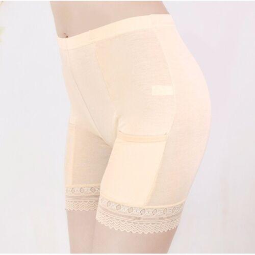 Lady Modal Long Leg Briefs Pockets Underwear Pettipants French Knicker Soft HOT