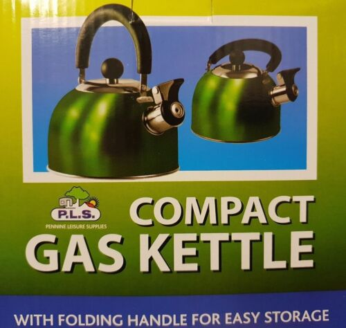 Green 1.6 Litre Gas Hob Kettle with Folding Handle -  SU320