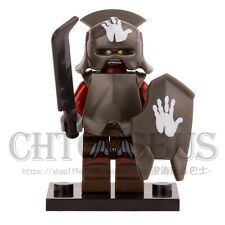 The Lord of the Rings Hobbit Uruk-Hai with Helmet Orc DIY Minifigures Toys Gifts