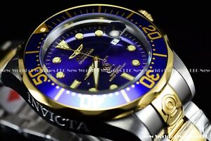 Invicta-Mens-47mm-Grand-Diver-Auto-Two-Tone-Blue-Dial-Stainless-Steel-Watch-3049