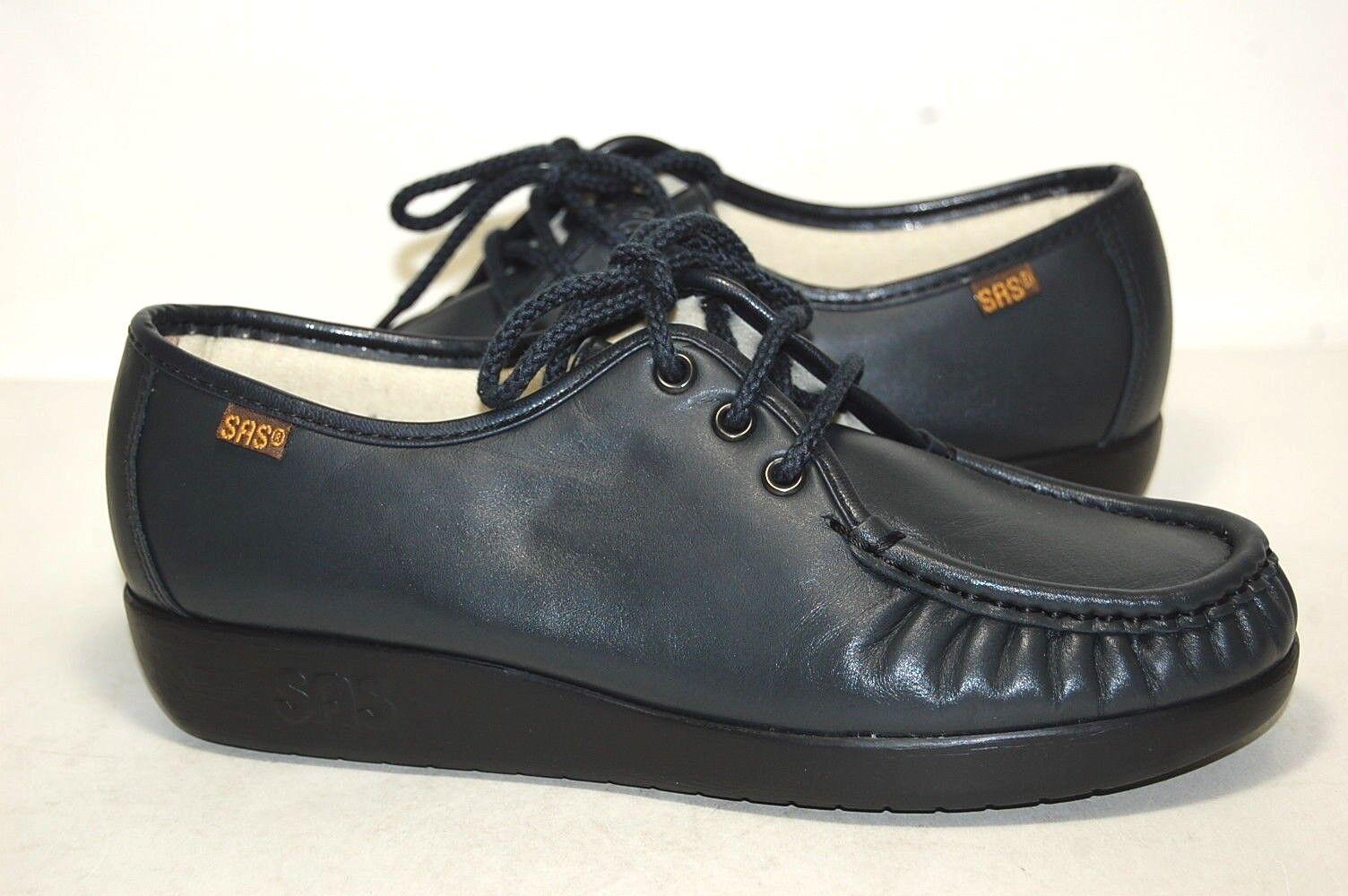 Original SAS Siesta Navy Leather W Wide 0038-011 donna
