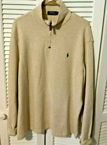 Polo Ralph Lauren Mens Quarter Zip Popover Cotton