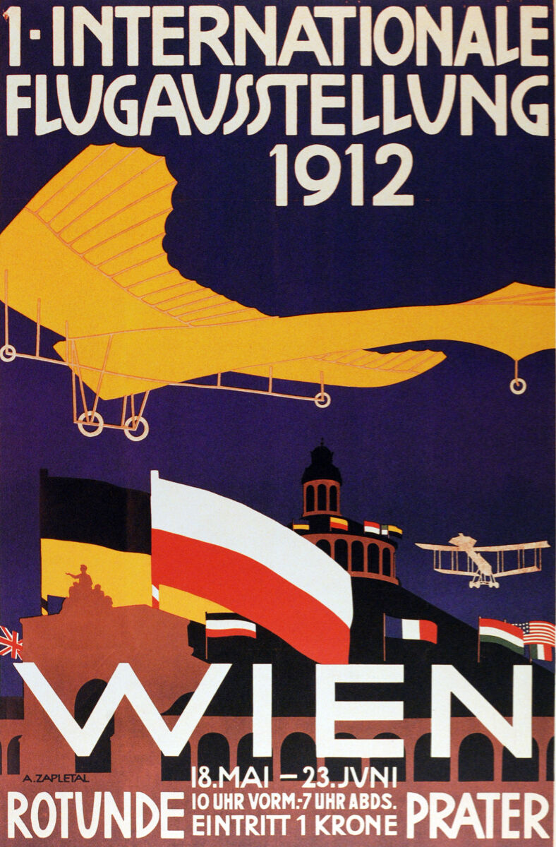 Aviation Vintage Decoration & Design Poster.French Wien.Home art Decor1043i
