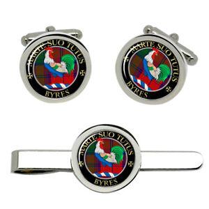 Byres-Scottish-Clan-Cufflinks-and-Tie-Clip-Set