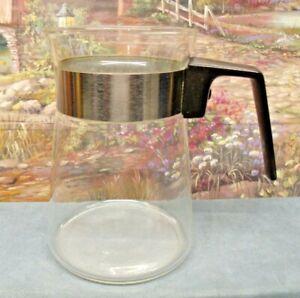 VINTAGE-2-4-CUP-PYREX-CORNING-GLASS-COFFEE-TEA-STOVETOP-CARAFE-POT-NO-LID