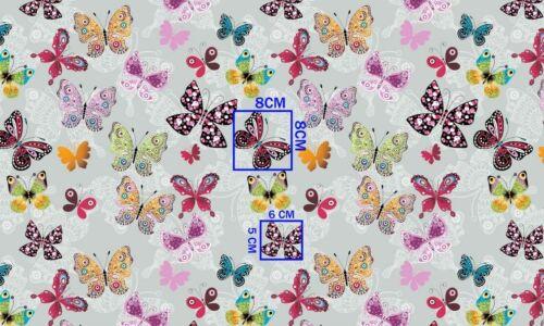 Baumwollstoff Kinderstoff Dekostoff Schmetterling Breite 160cm ab 50cm