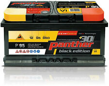 Autobatterie 95Ah Panther Black Edition +30% 12V 95Ah 850A P+95T Starterbatterie