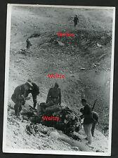 Original Pressefoto Wacht gegen England, Überreste eines Viermotorigen Fortress