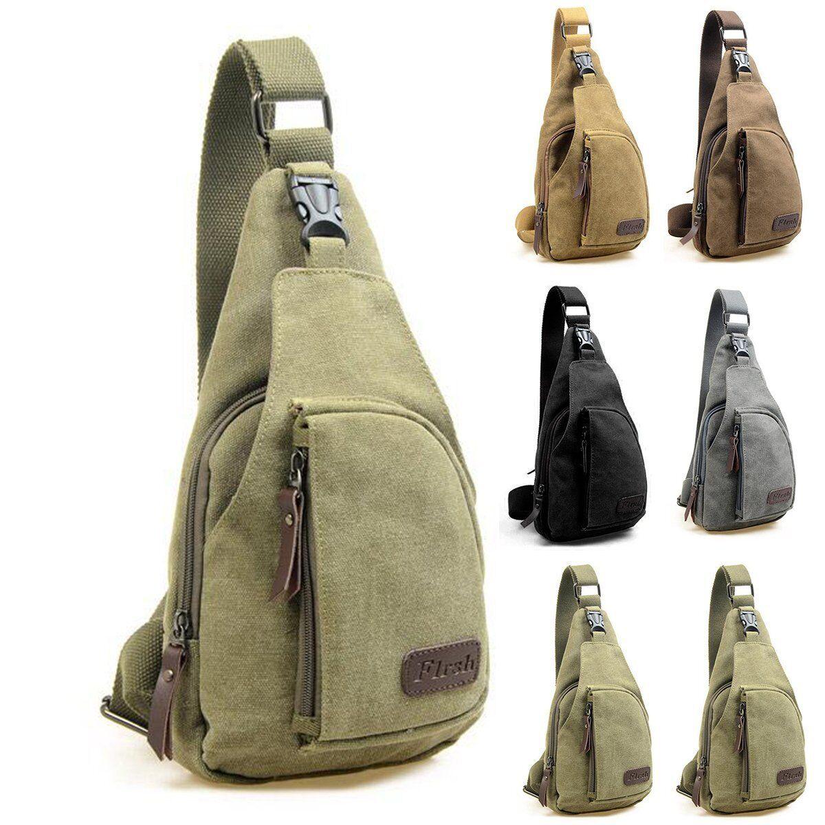 Men's Canvas Travel Bag Military Backpack Hiking Satchel Messenger Sho... - s l1600