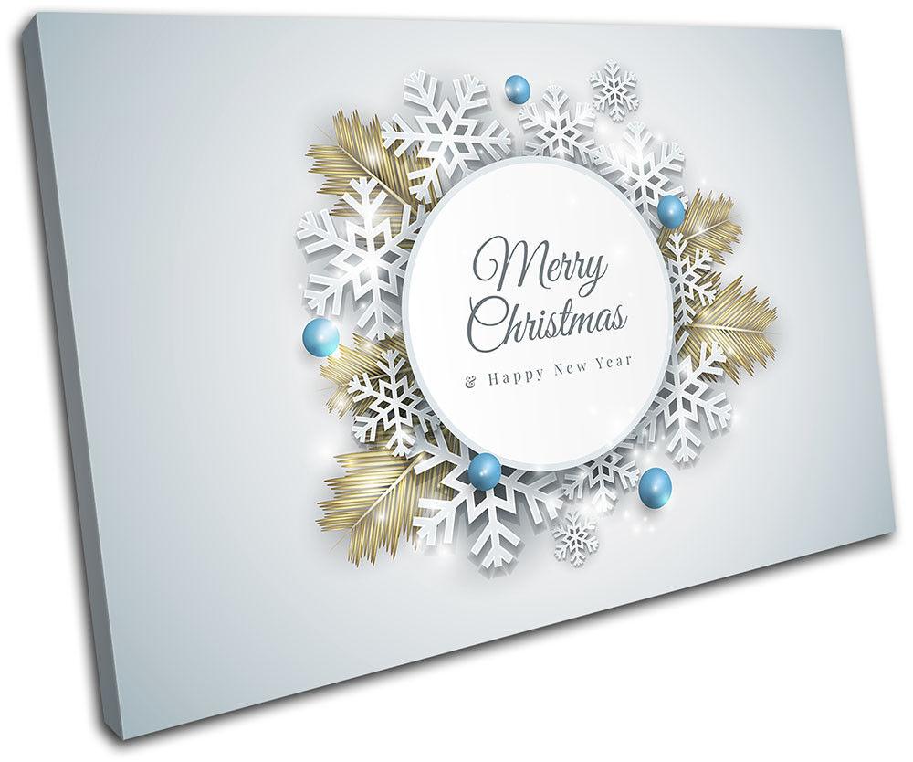Modern Decoration Snowflake Christmas SINGLE TELA parete arte foto stampa
