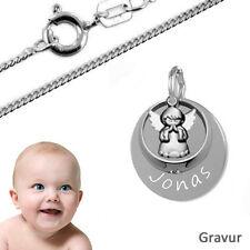 Taufkette,Kinderkette,Gravur Anhänger mit Taufring Schutzengel betend- Silber925