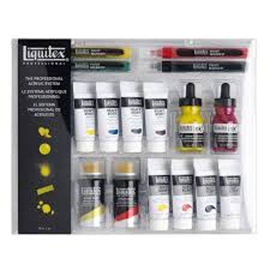 Liquitex Intermixability Set Acrylic Paints, Inks, Aerosol Sprays, Paint Markers