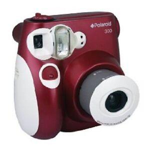 Polaroid PIC-300R Instant Analog Camera (Red)