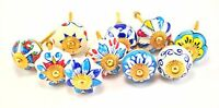 Karmakara Set Of 10 Blue And White Ceramic Cupboard Cabinet Door Knobs Drawer Pu on sale