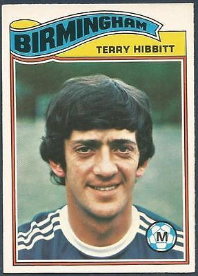 TERRY HIBBITT -#126- BIRMINGHAM TOPPS-FOOTBALL ORANGE BACK 1978