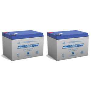 Power-Sonic-2-Pack-UB12120F2-12V-12Ah-F2-Wheelchair-Scooter-Battery-Replaces